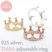 jewels,jewelry,ring,adjustable ring,princess jewelry,sterling silver ring,tiara,tiara ring,princess,wedding