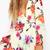 Floral V-Neck Elastic Waist Playsuit|Disheefashion