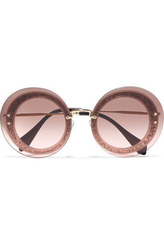 sunglasses gold pink