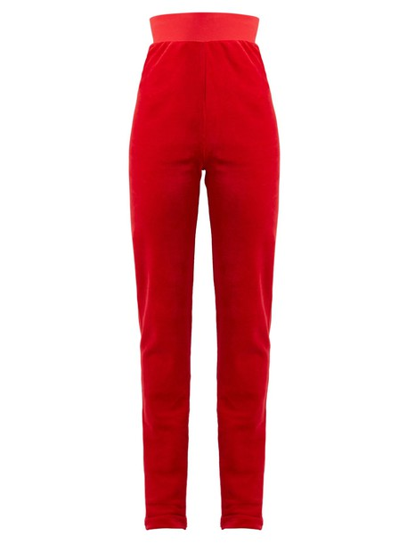 Vetements pants track pants couture red
