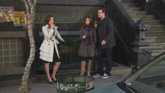 jacket cobie smulders how i met your mother coat beige beige jacket trench coat