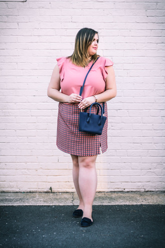 stylishsassy&classy blogger top skirt shoes bag plus size top curvy plus size