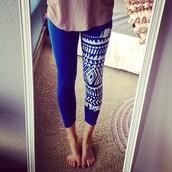 pants,leggings,blue