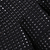 Falda plisada tachuela cintura alta-negro