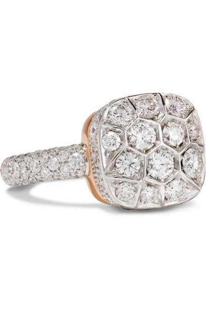 Pomellato - Nudo 18-karat Rose And White Gold Diamond Ring