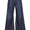 De-din cotton & linen blend denim jeans