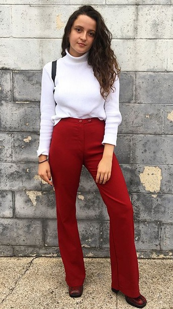 jeans red burgundy