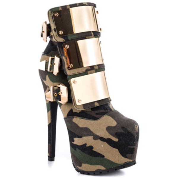 shoes camouflage heels