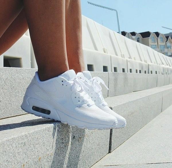 the best attitude 38ecc 86287 nike air max 90 s white shoes white sneakers sneakers nike