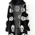 Black Hooded Long Sleeve Skull Pattern Cardigan - Sheinside.com