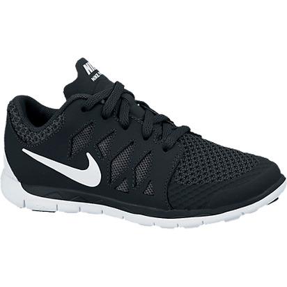 boys free 5 0 running shoe 1 3 black white sport chalet