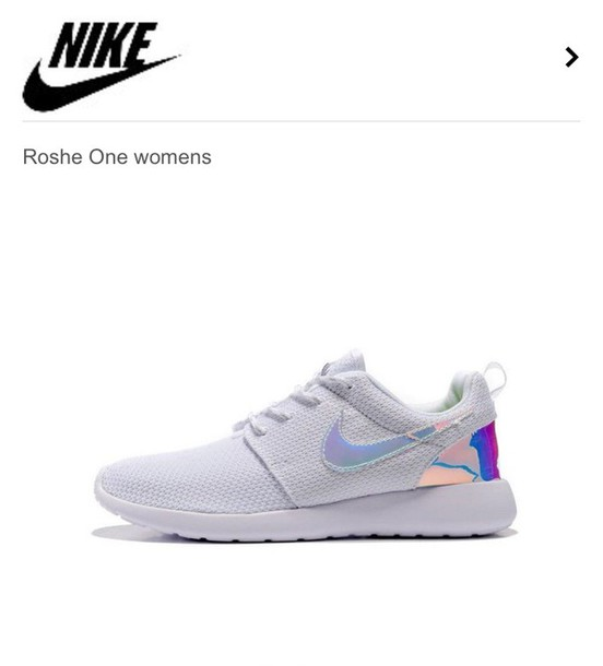 shoes nike tumblr nike roshe run nike roshe run sneakers white shows  holographic holographic shoes
