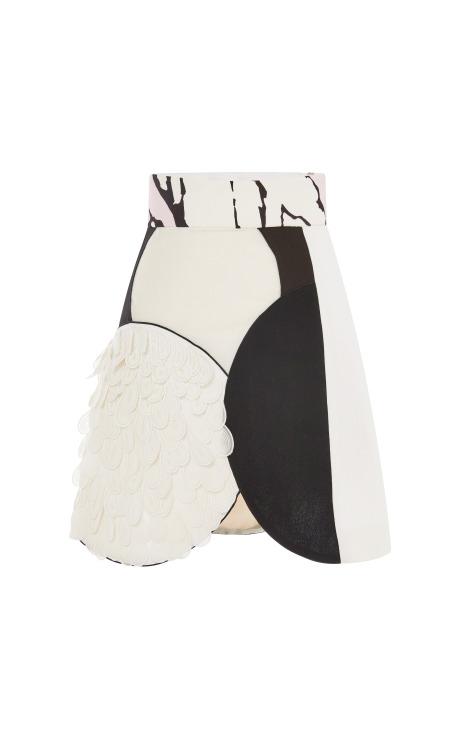 Patched skirt by giambattista valli
