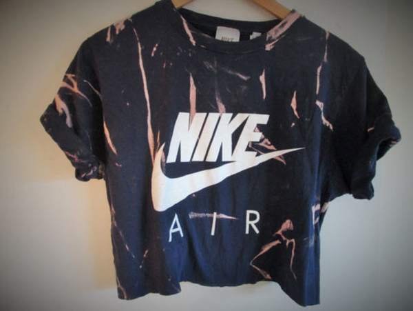 T Shirt Marble Nike Nikeair Workout Crop Crop Tops