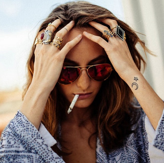 jewels ring gold ring hippie stones gold sunglasses boho jewelry