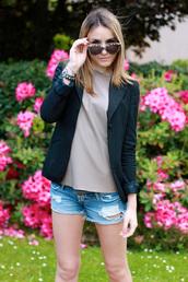 heels on gasoline,t-shirt,shorts,shoes,sunglasses