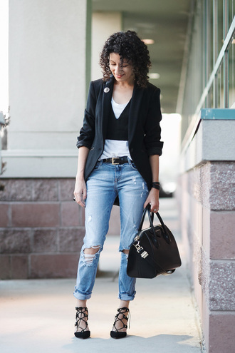 alterations needed blogger jacket top shirt jeans shoes bag belt