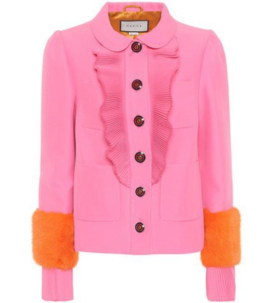 gucci fur pink jewels