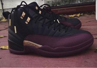 shoes sneakers nike sneakers jordans shoegasm purple black jordan