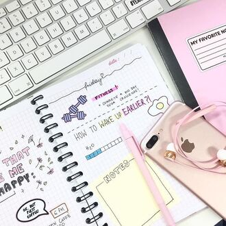 home accessory yeah bunny pink pastel stickers book notebook keyboard apple iphone fitness ok but first coffe