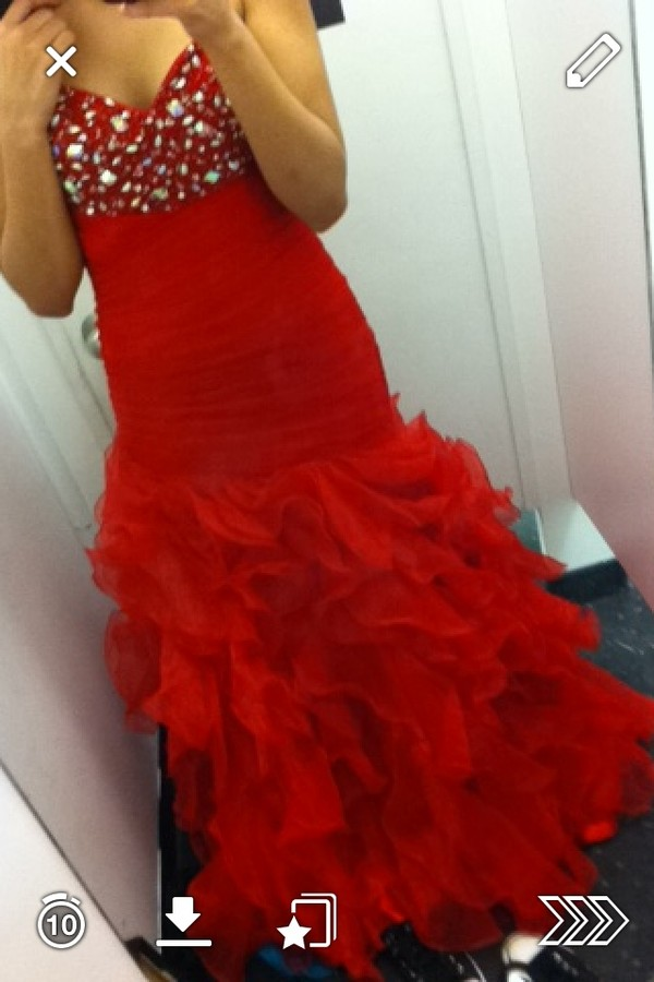 dress red dress prom dress sparkle mermaid/trumpet
