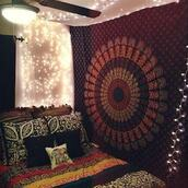 home accessory,cheap pillow,tapetry,bedding,blue tapestry,multimatecollection,bohemian indian pillow,mandala tapesty