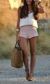 shorts,pink,pastel