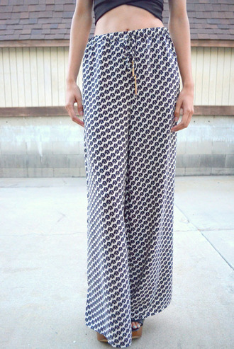 pants flare pants flare black and white black and white pants printed pants print wide-leg pants