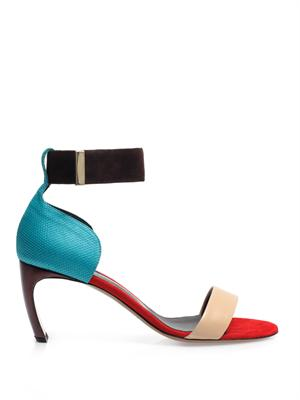 Colour-block ankle strap sandals | Nicholas Kirkwood | MATCHES...