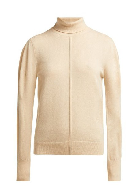 Chloé Chloé - Iconic Roll Neck Cashmere Sweater - Womens - Beige
