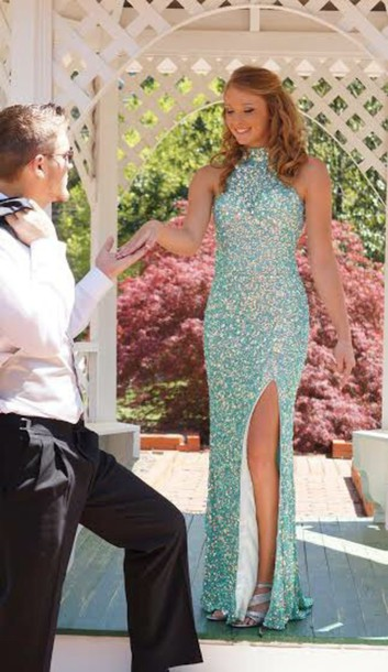 T shirt prom dress and shoes