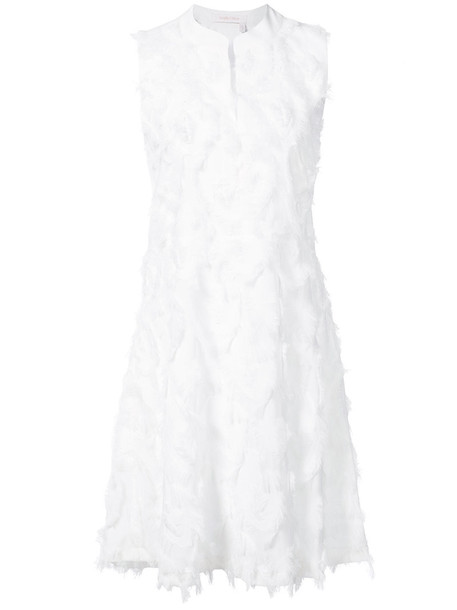 dress shift dress women white silk