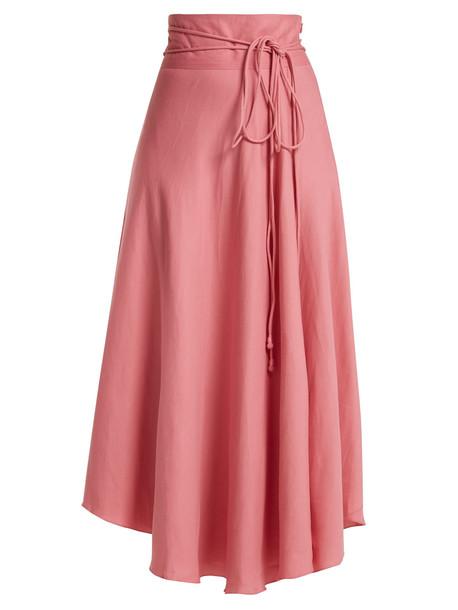 skirt wrap skirt light pink light pink