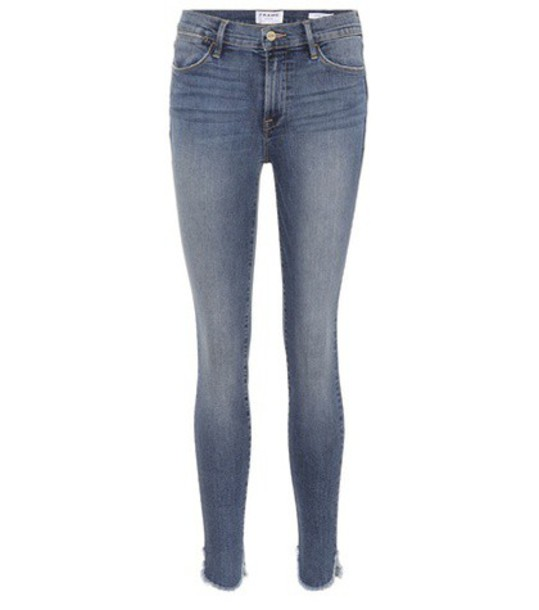 Frame Le High skinny jeans in blue