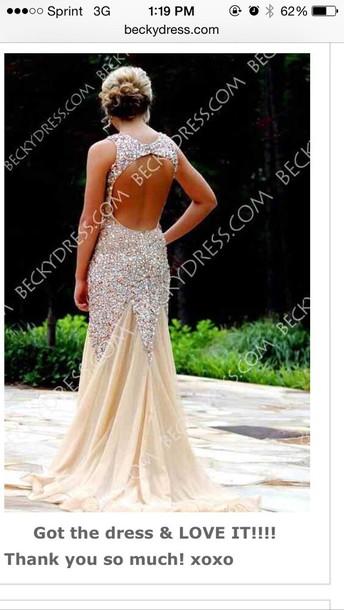 dress sparkly dress champagne dress