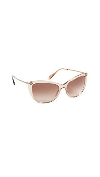 chic sunglasses transparent light brown