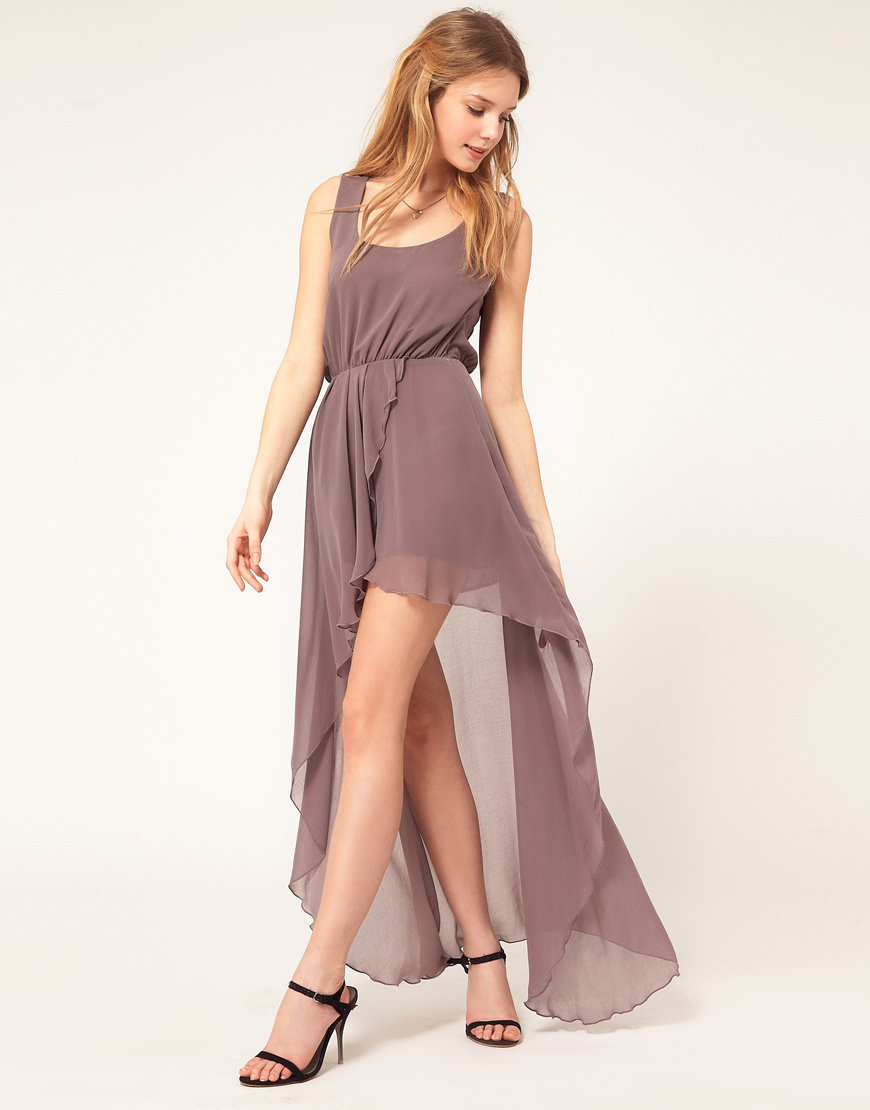 2078274ce9 NEW Love   ASOS Chiffon Wrap Hi Lo Dress S uk 8
