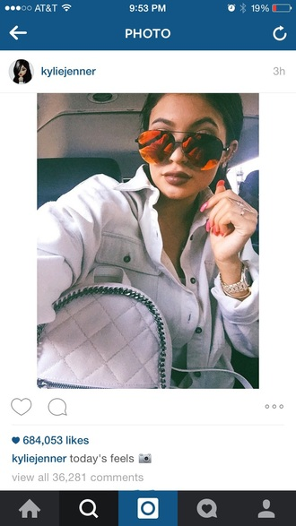 sunglasses kylie jenner style mirrored sunglasses
