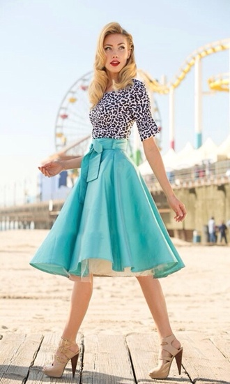 skirt tiffany blue full skirt dress