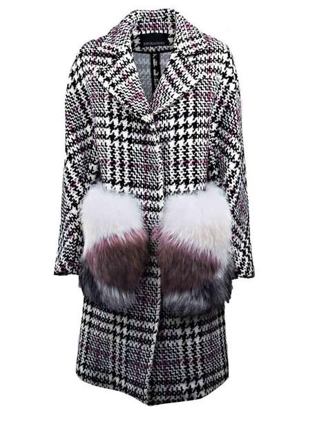 coat plaid black