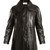Single-breasted patent-leather coat