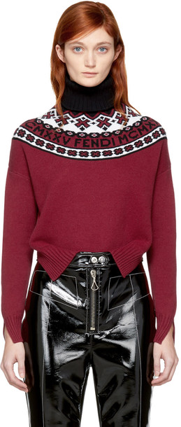 Fendi turtleneck red sweater