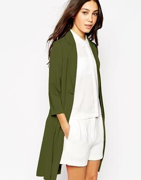 Vero moda long line trench coat at asos