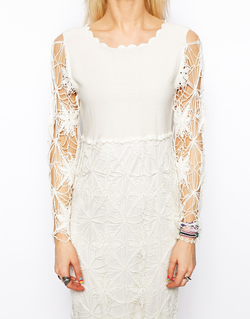 Asos crochet midi dress at asos.com