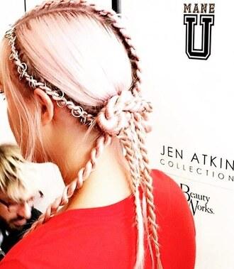 hair accessory hair rings pink hair braid hairstyles