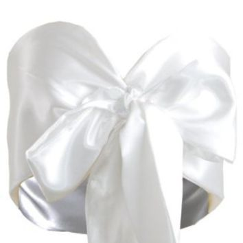 Amazon.com: White Bow Tie Front Silk Satin Cropped Top Bralet Bustier Corset Bandeau: Clothing on Wanelo