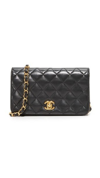 What Goes Around Comes Around Chanel Mini Flap Bag (Previously Owned) in black