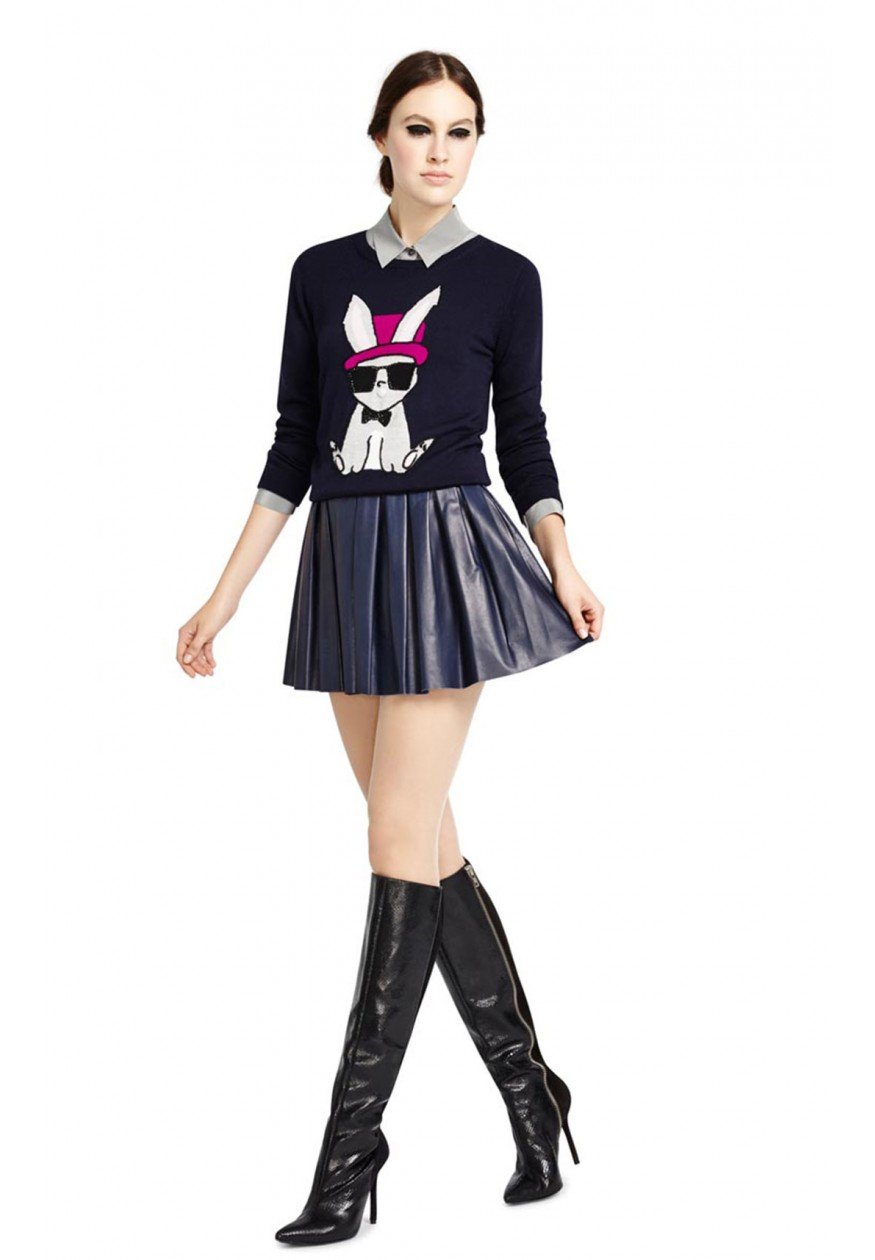 alice   olivia | EMBELLISHED BUNNY SWEATER