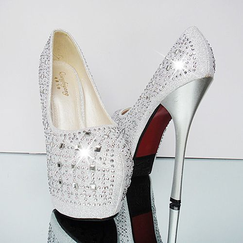 Luxurious Colorful Women Pumps with Shining Rhinestone - DualShine