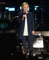 jacket,first lady outfits,blazer,navy,hillary clinton,blouse,pants